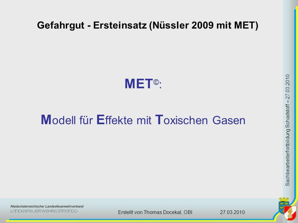 Modell für Effekte mit Toxischen Gasen