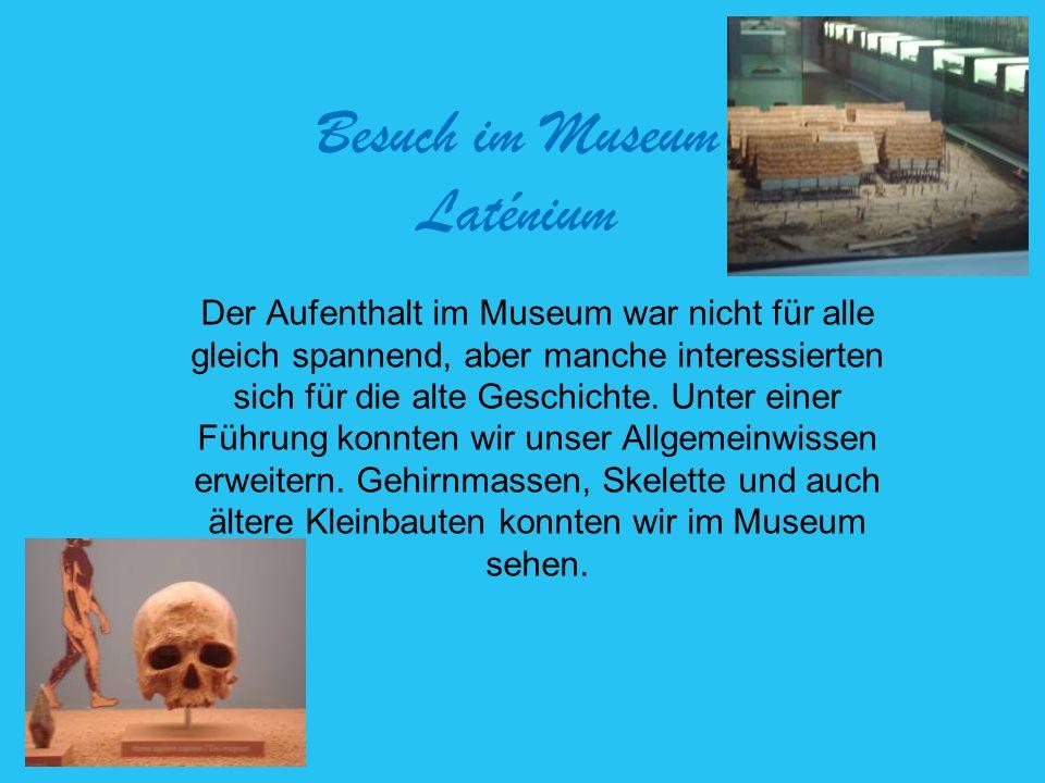 Besuch im Museum Laténium