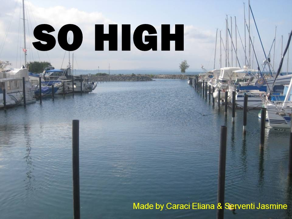 So high Made by Caraci Eliana & Serventi Jasmine