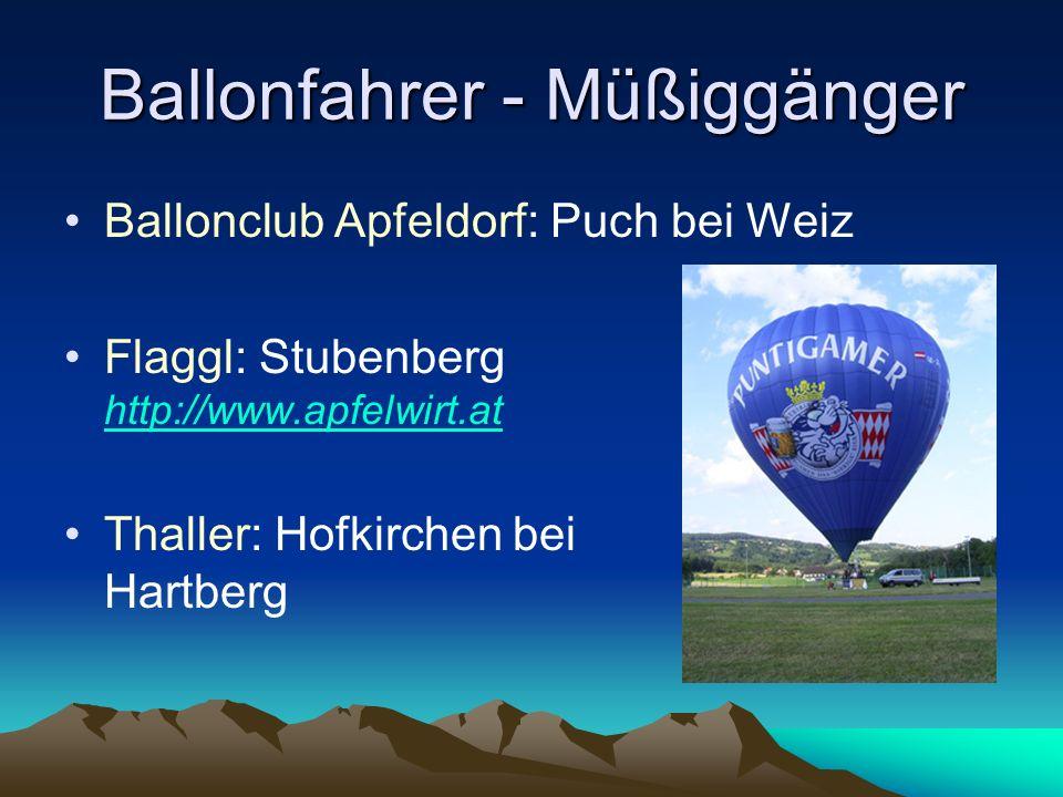 Ballonfahrer - Müßiggänger