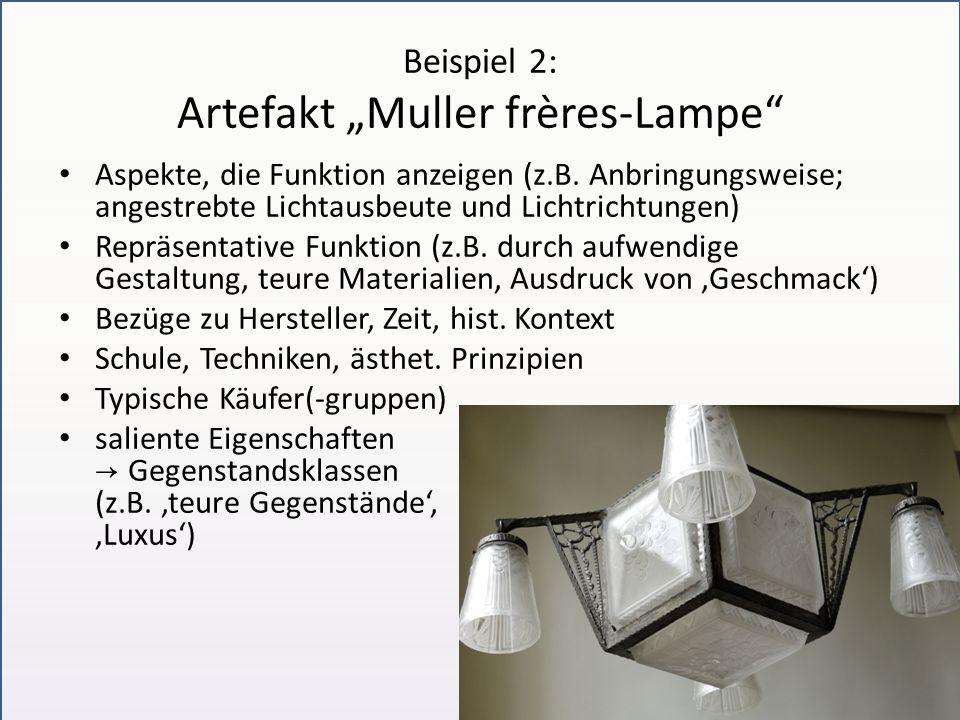 """Beispiel 2: Artefakt """"Muller frères-Lampe"""
