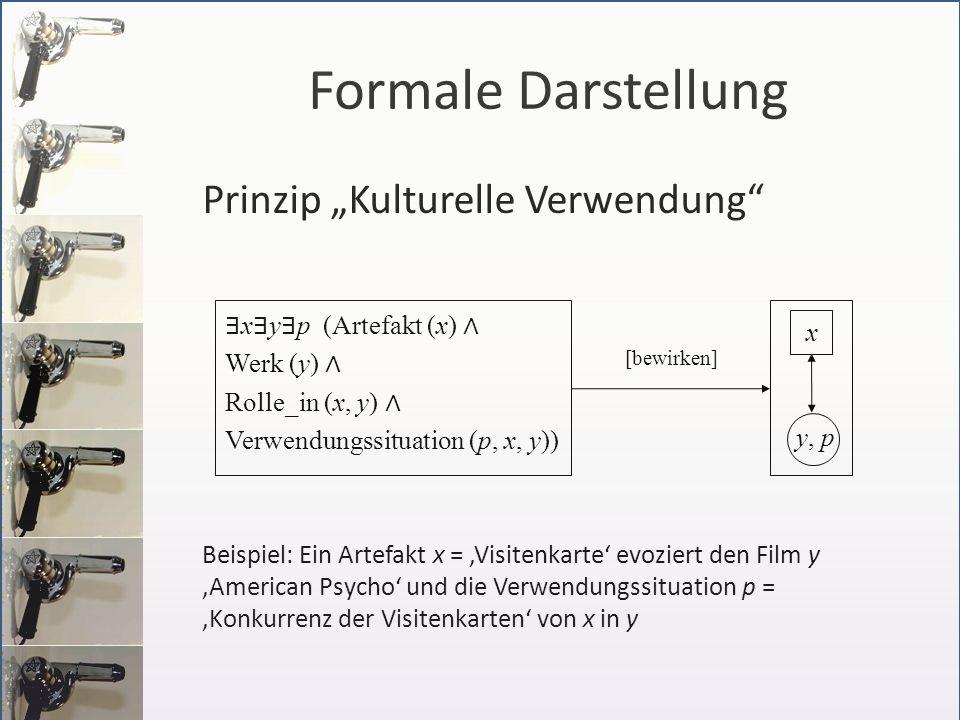 """Formale Darstellung Prinzip """"Kulturelle Verwendung"""