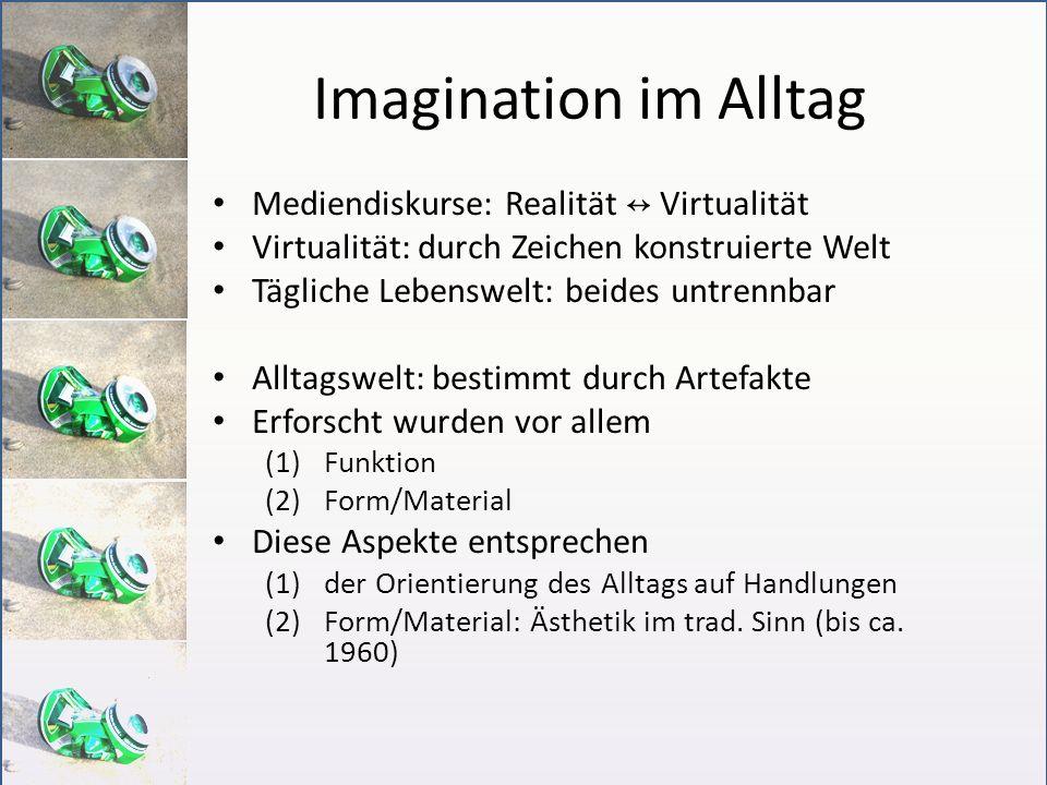 Imagination im Alltag Mediendiskurse: Realität ↔ Virtualität