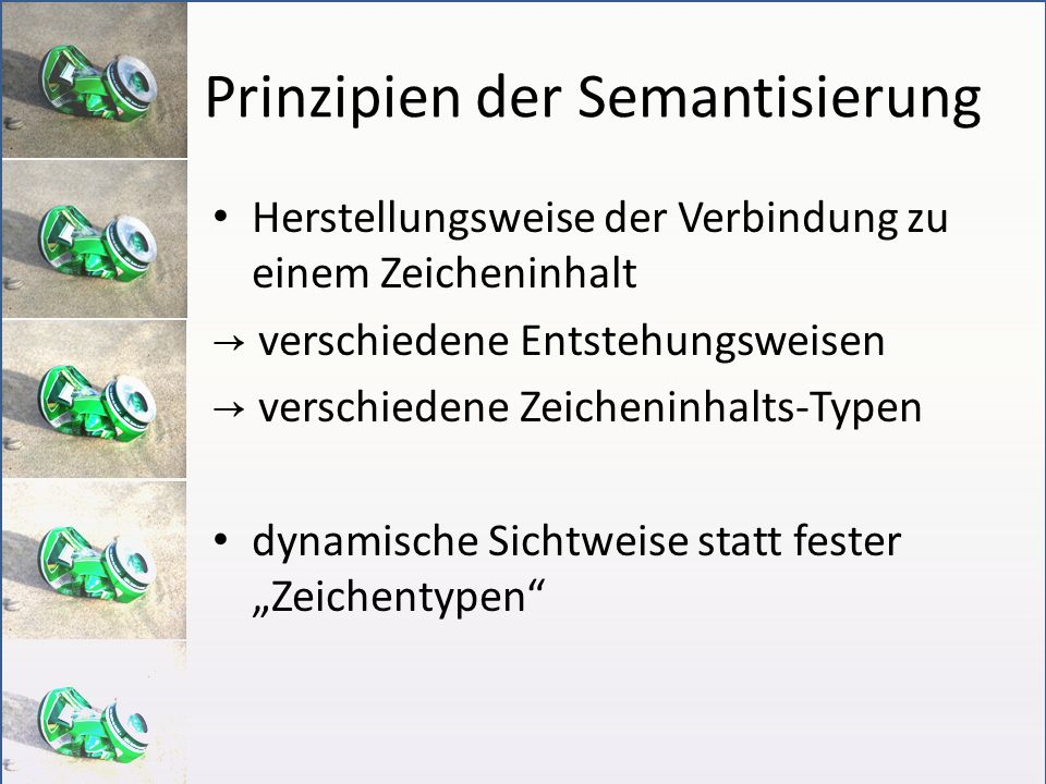 Prinzipien der Semantisierung