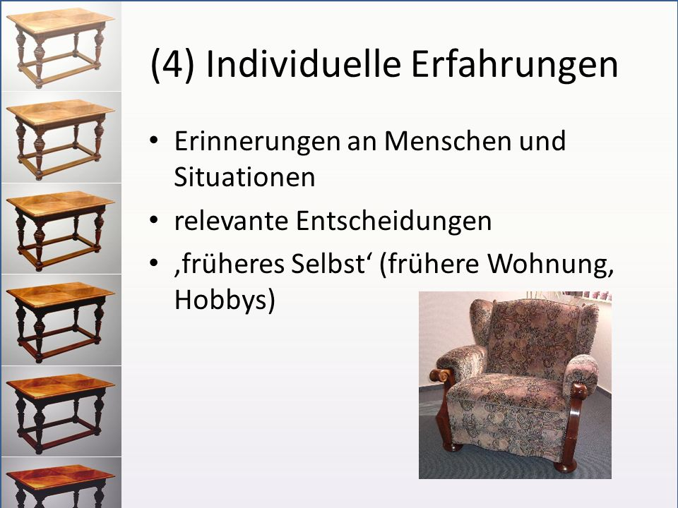 (4) Individuelle Erfahrungen
