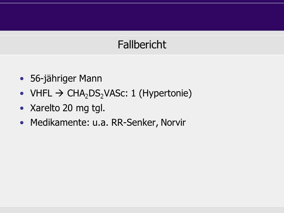 Fallbericht 56-jähriger Mann VHFL  CHA2DS2VASc: 1 (Hypertonie)