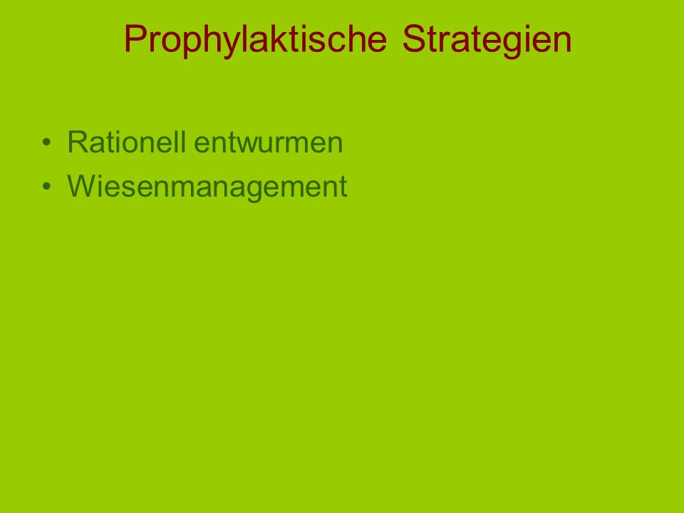 Prophylaktische Strategien