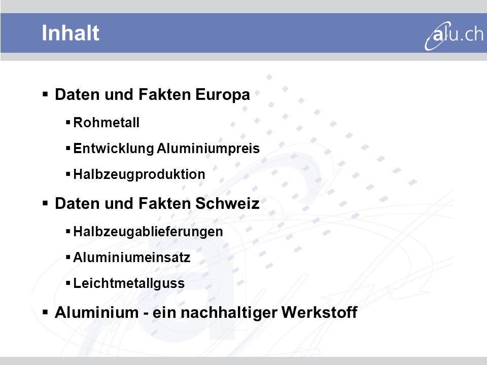 Inhalt Daten und Fakten Europa Daten und Fakten Schweiz