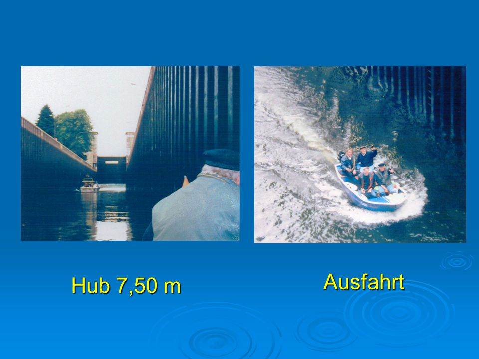 Hub 7,50 m Ausfahrt