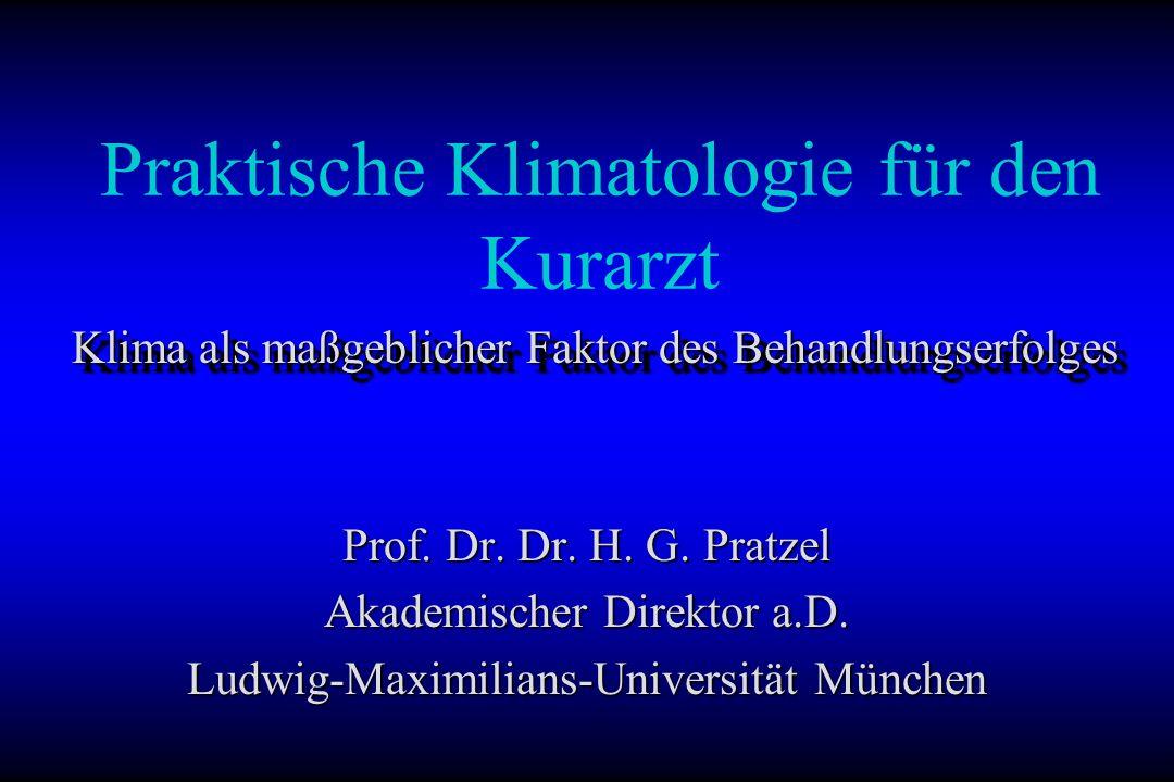 Praktische Klimatologie für den Kurarzt