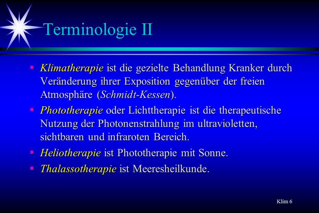 Terminologie II
