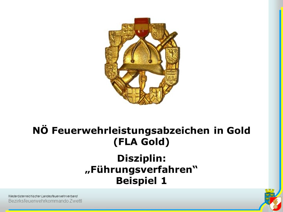 NÖ Feuerwehrleistungsabzeichen in Gold (FLA Gold)