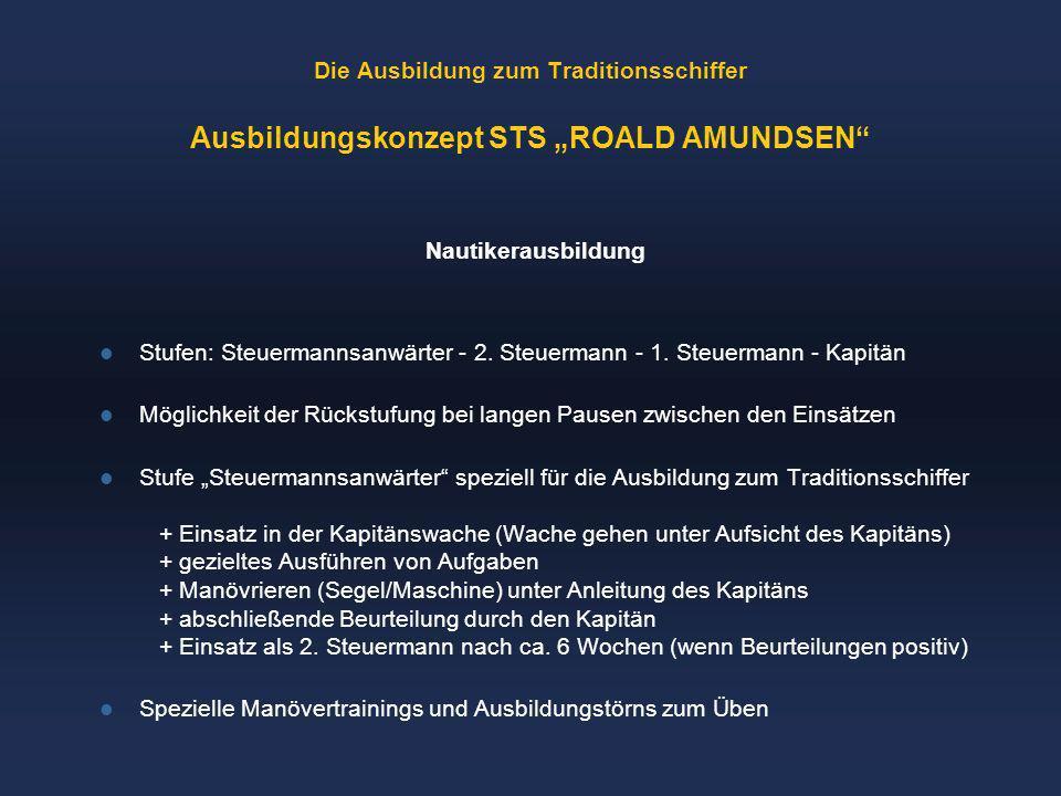 """Die Ausbildung zum Traditionsschiffer Ausbildungskonzept STS """"ROALD AMUNDSEN"""