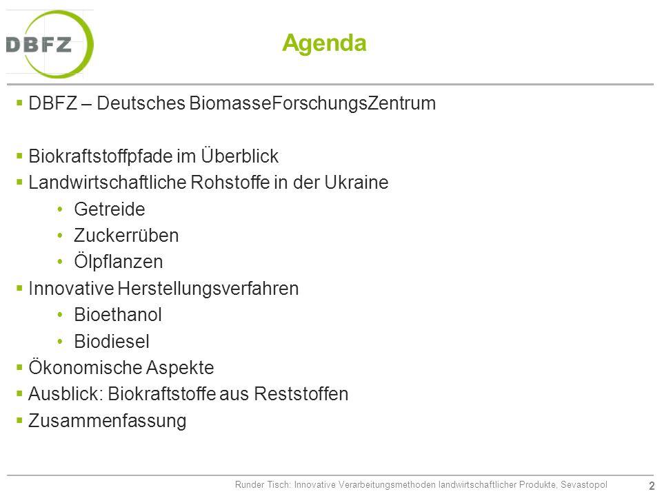 Agenda DBFZ – Deutsches BiomasseForschungsZentrum