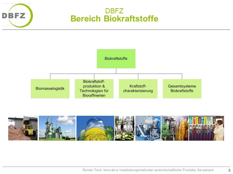 DBFZ Bereich Biokraftstoffe