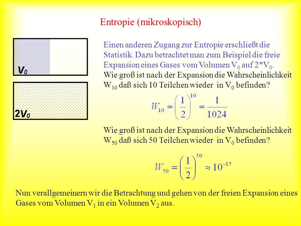 Entropie (mikroskopisch)