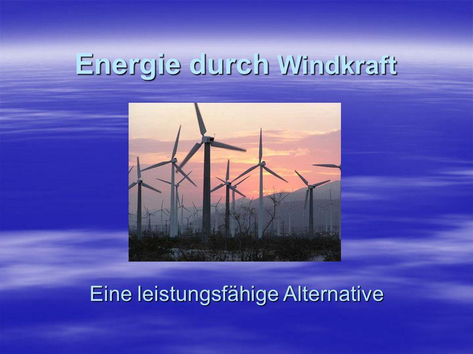Energie durch Windkraft