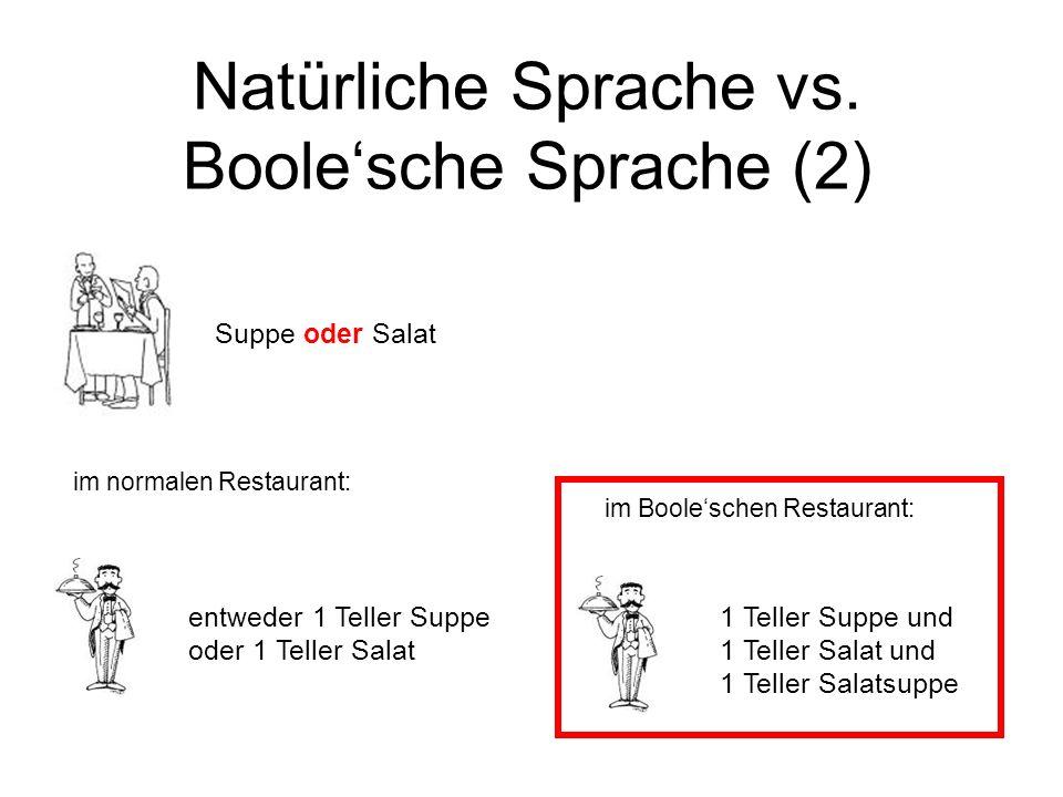 Natürliche Sprache vs. Boole'sche Sprache (2)