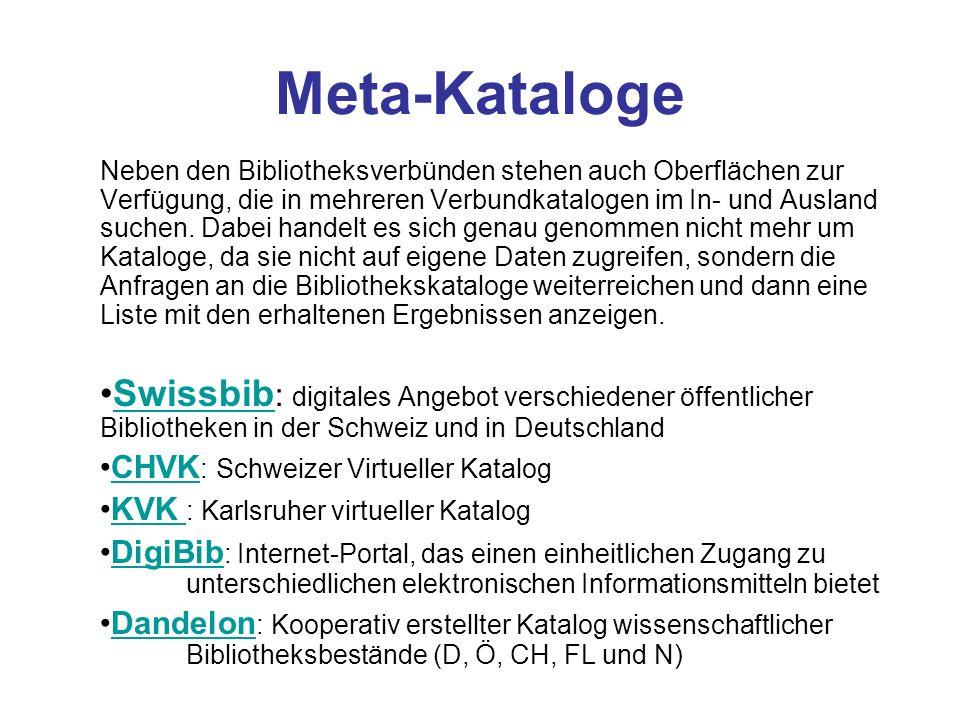 Meta-Kataloge