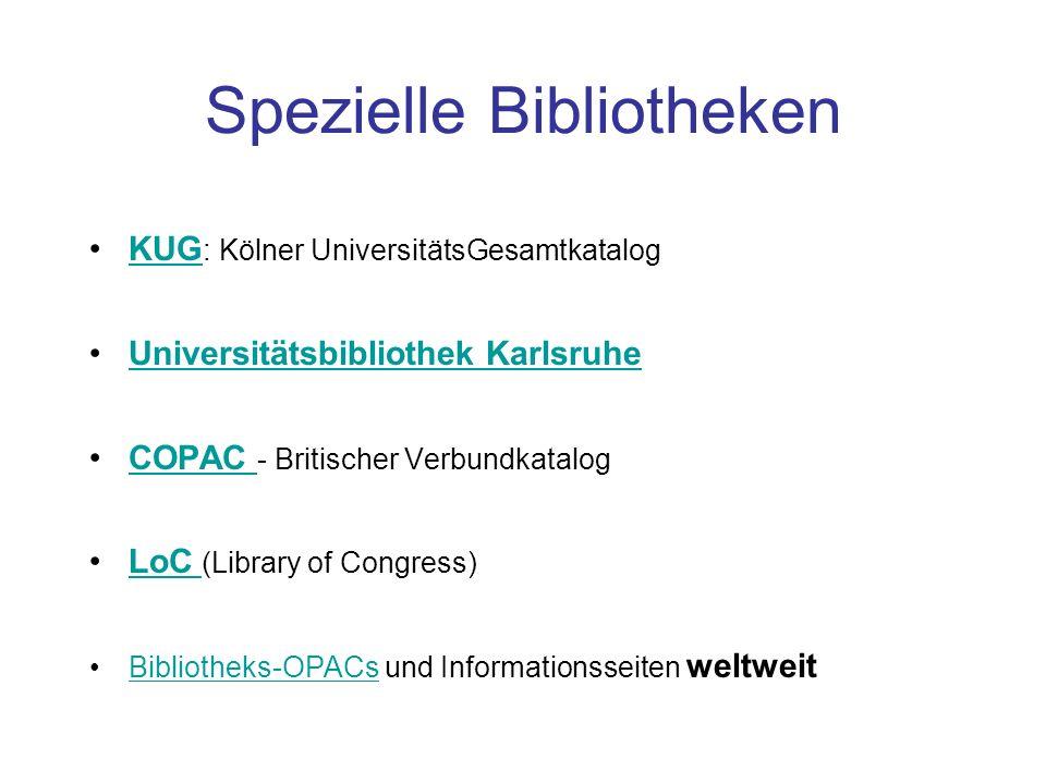 Spezielle Bibliotheken
