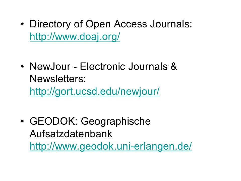 Directory of Open Access Journals: http://www.doaj.org/