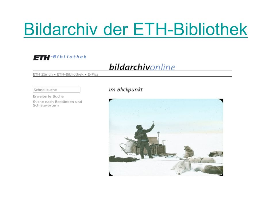 Bildarchiv der ETH-Bibliothek