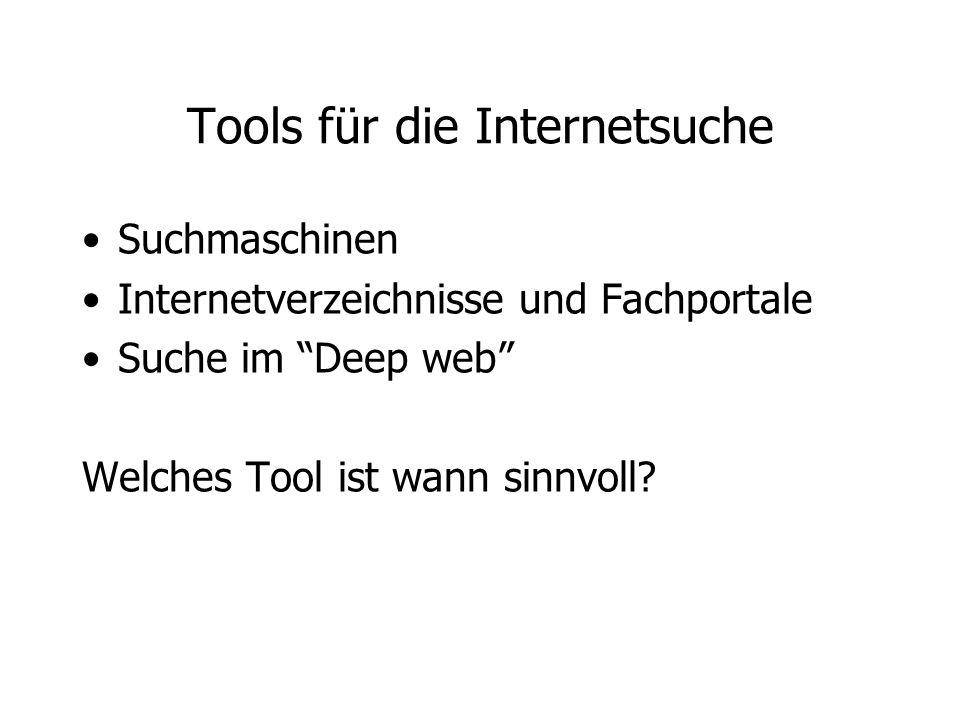 Tools für die Internetsuche
