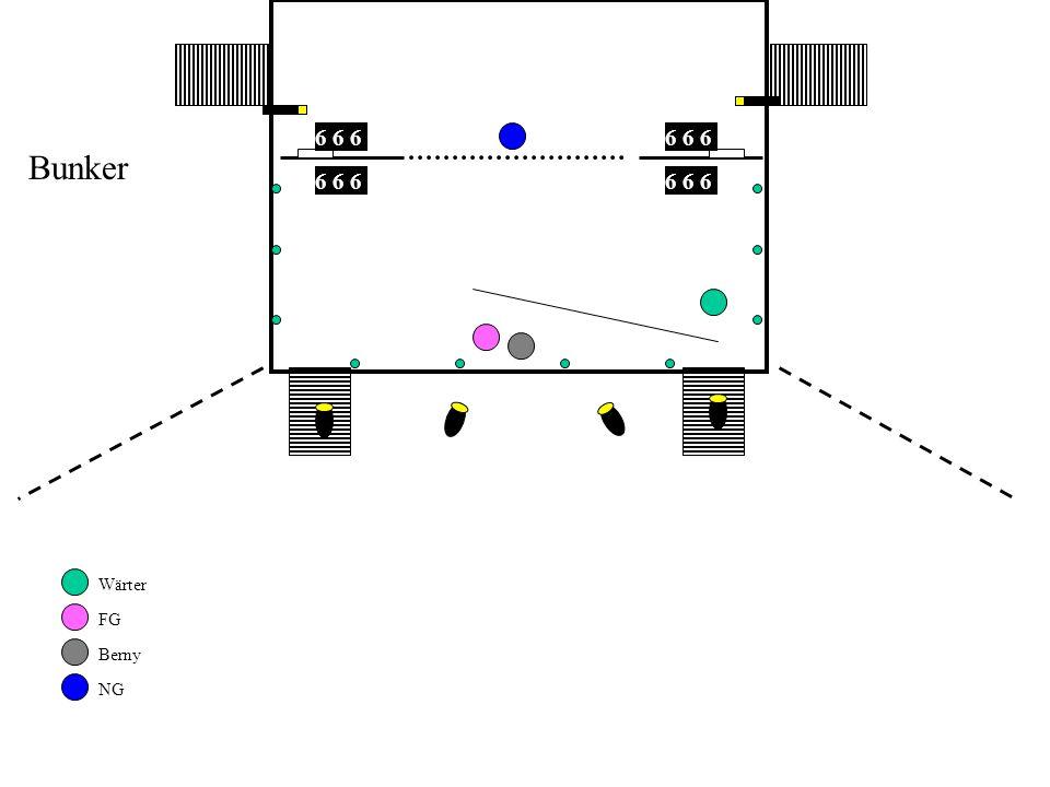 6 6 6 6 6 6 Bunker 6 6 6 6 6 6 Wärter FG Berny NG