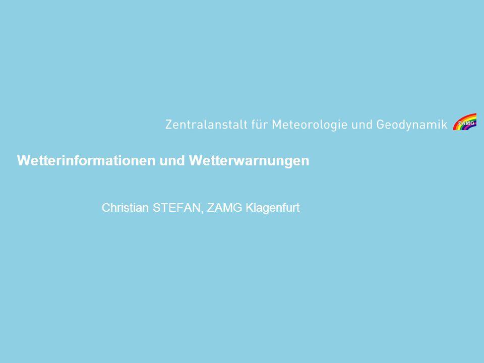 Wetterinformationen und Wetterwarnungen