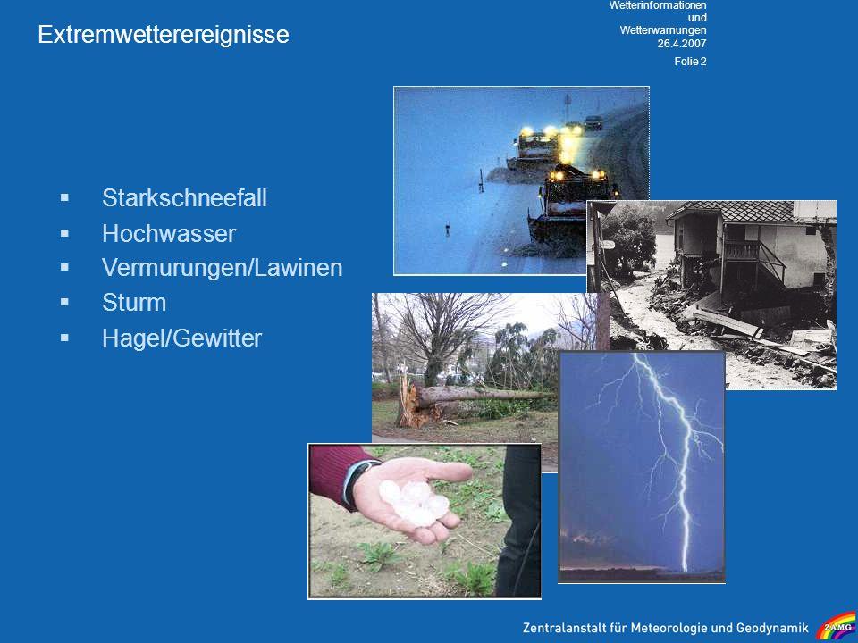 Extremwetterereignisse