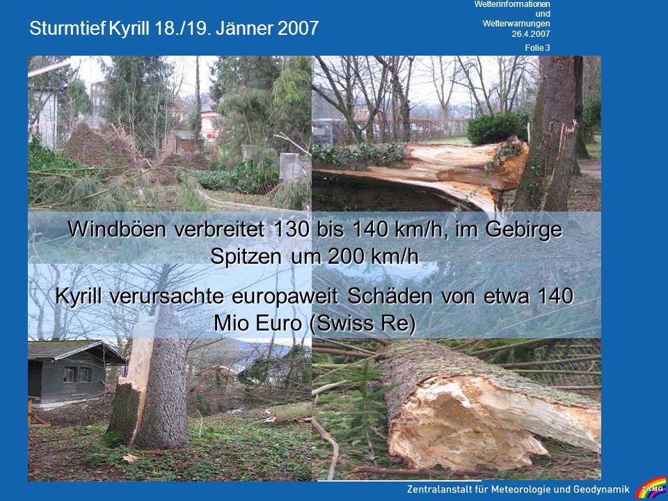 Sturmtief Kyrill 18./19. Jänner 2007