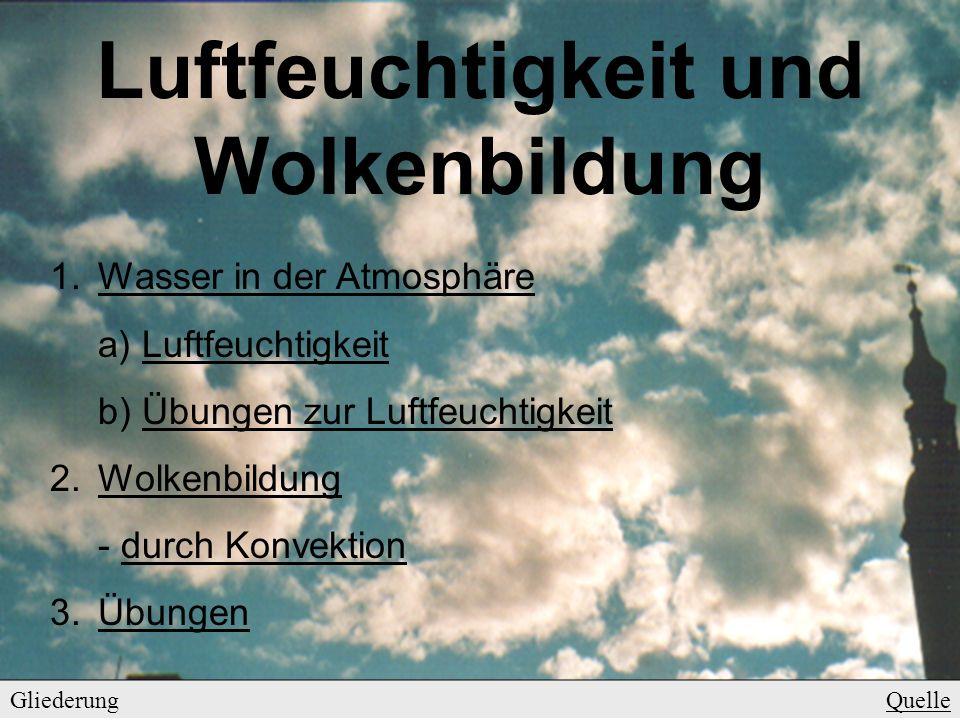 Luftfeuchtigkeit und Wolkenbildung - ppt video online herunterladen