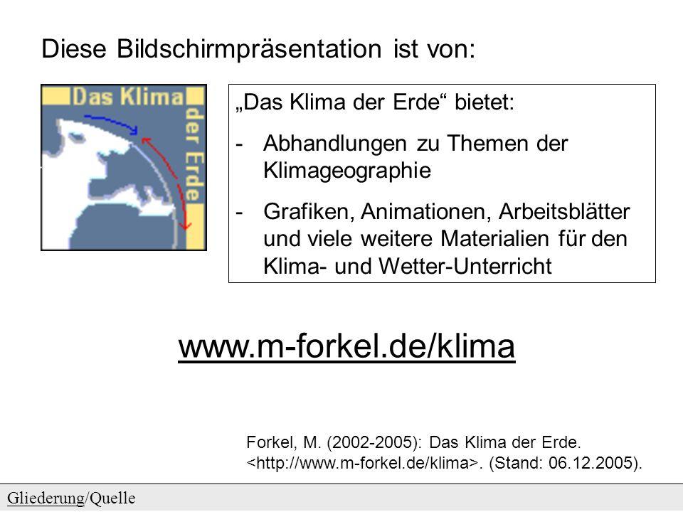 www.m-forkel.de/klima Diese Bildschirmpräsentation ist von: