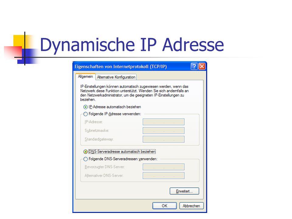 Dynamische IP Adresse