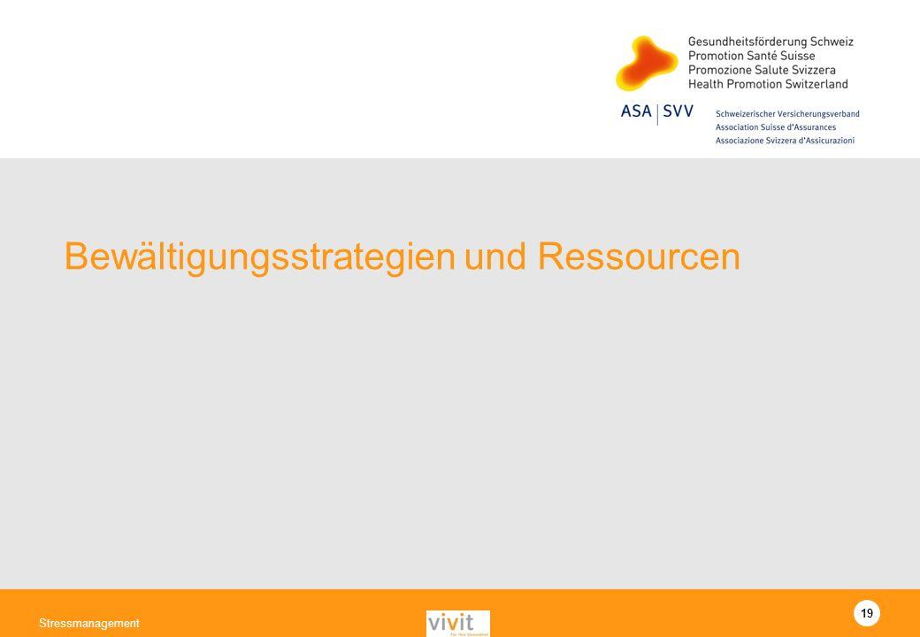 Bewältigungsstrategien und Ressourcen