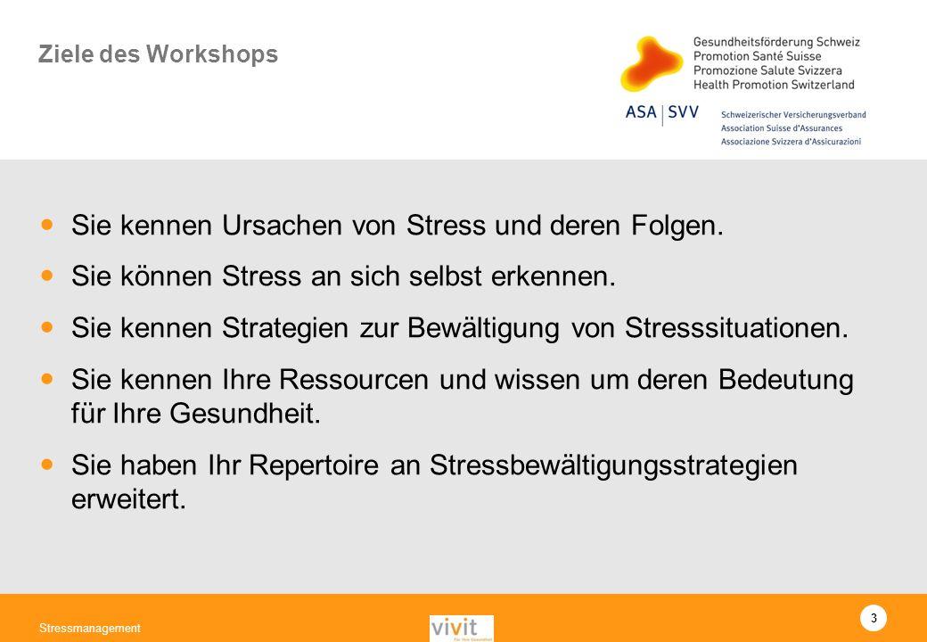 Sie kennen Ursachen von Stress und deren Folgen.