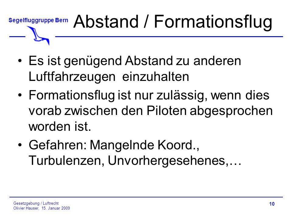 Abstand / Formationsflug