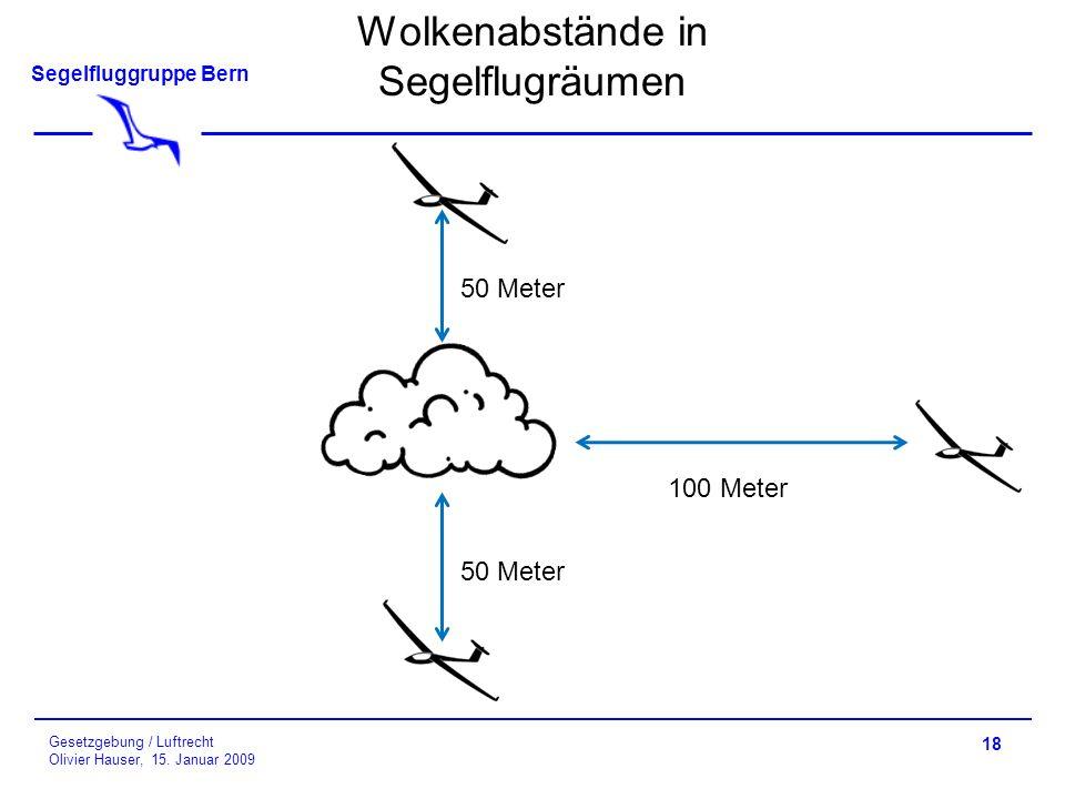 Wolkenabstände in Segelflugräumen