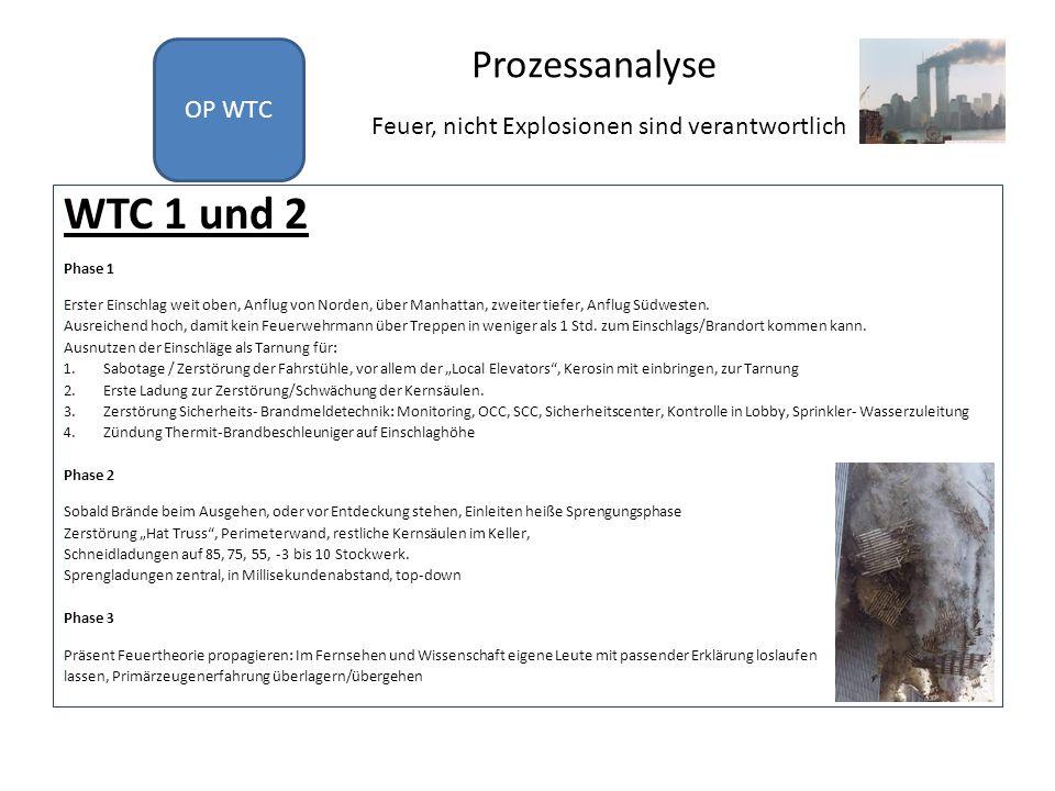 WTC 1 und 2 Prozessanalyse OP WTC