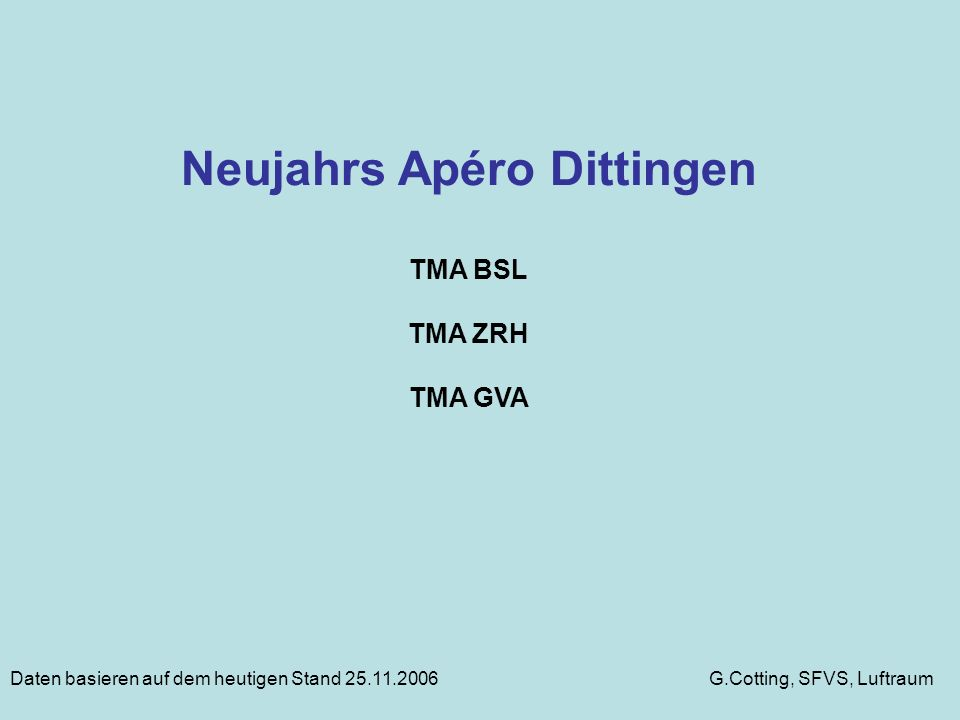 Neujahrs Apéro Dittingen