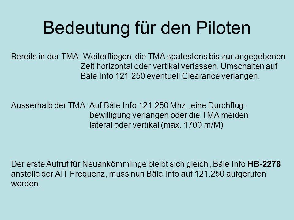 Bedeutung für den Piloten