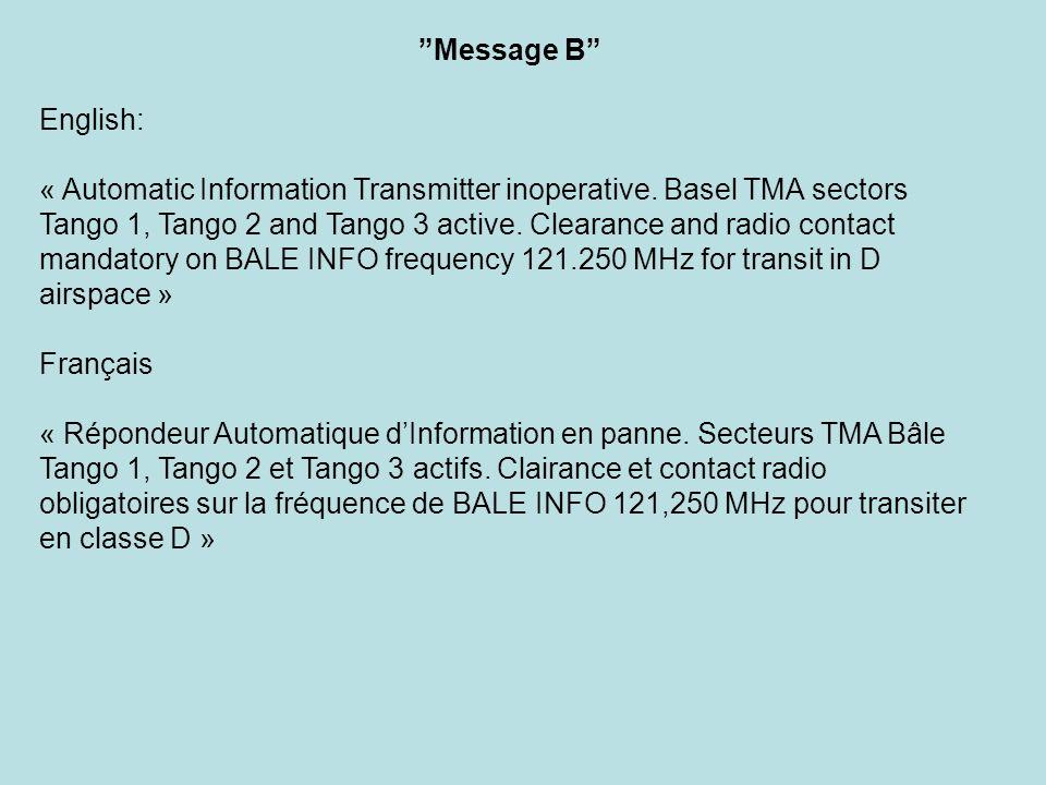 Message B English: