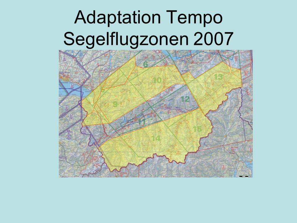 Adaptation Tempo Segelflugzonen 2007