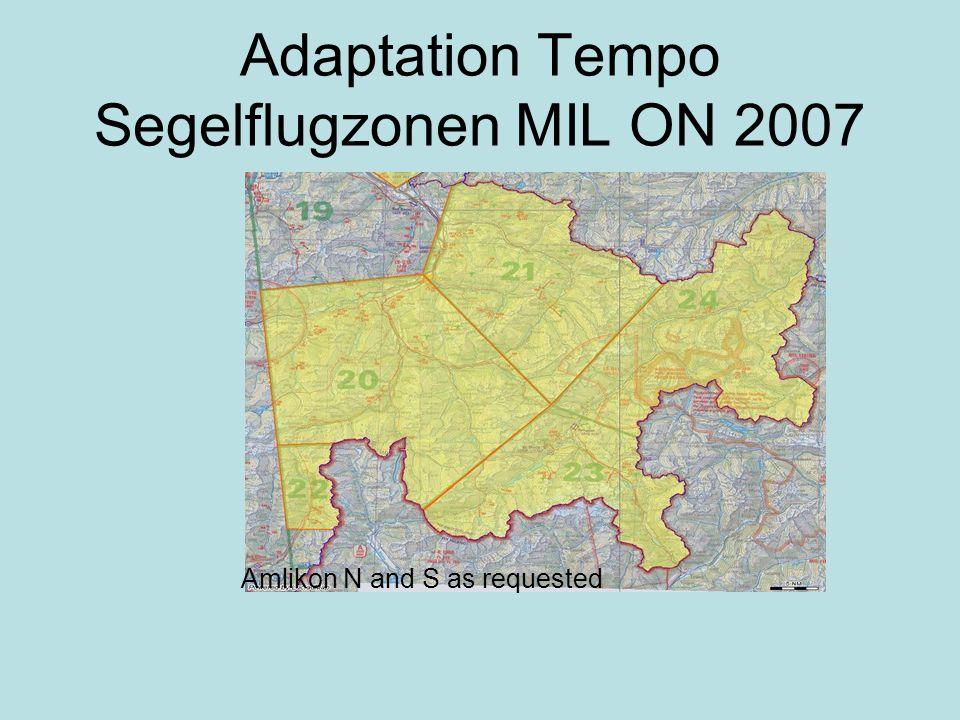 Adaptation Tempo Segelflugzonen MIL ON 2007