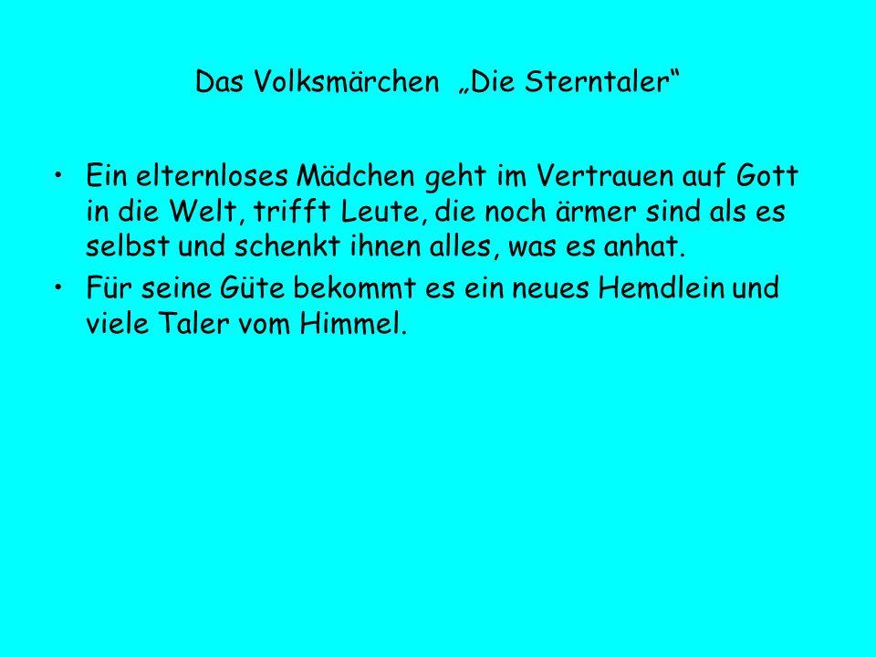"""Das Volksmärchen """"Die Sterntaler"""