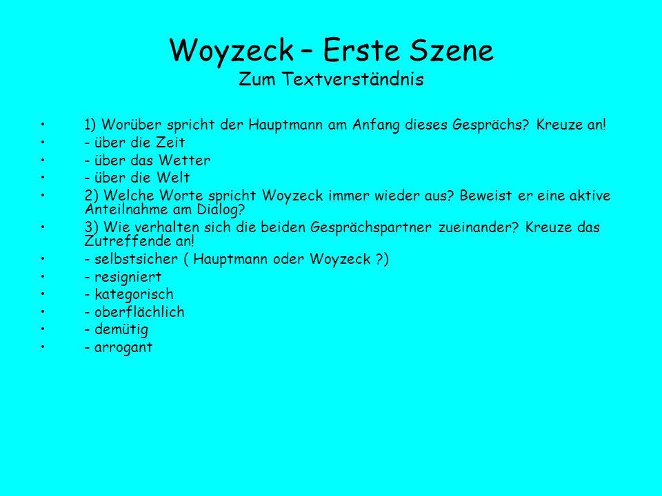 Woyzeck – Erste Szene Zum Textverständnis