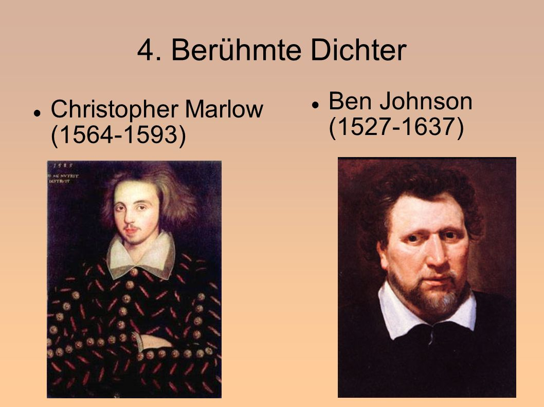4. Berühmte Dichter Ben Johnson (1527-1637)