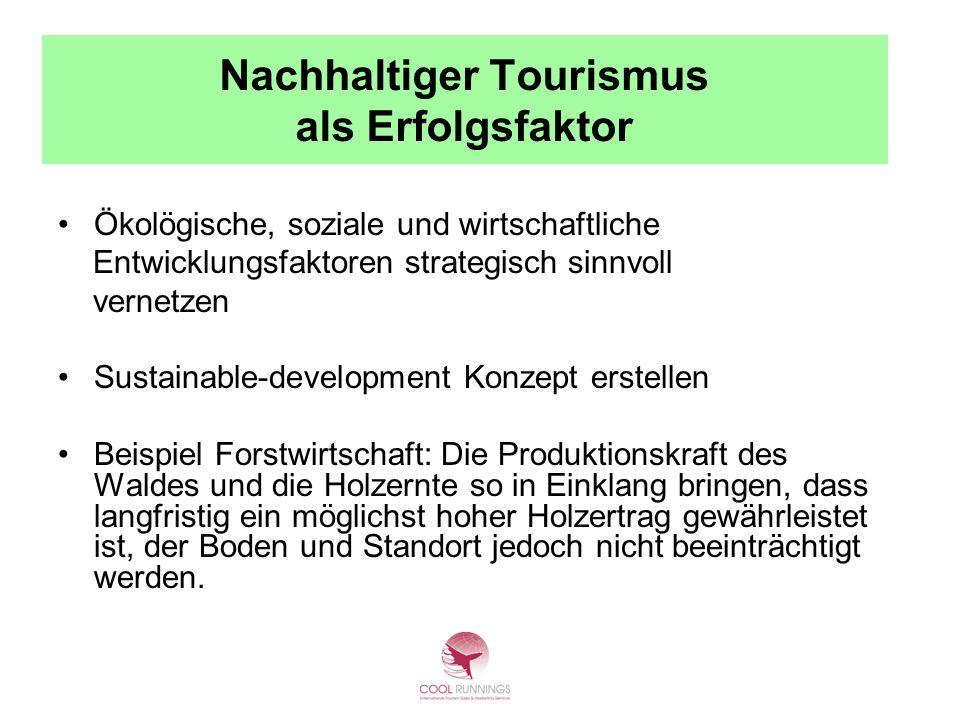Nachhaltiger Tourismus als Erfolgsfaktor