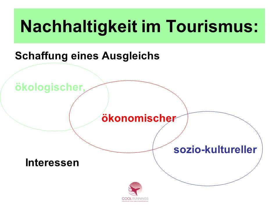 Nachhaltigkeit im Tourismus: