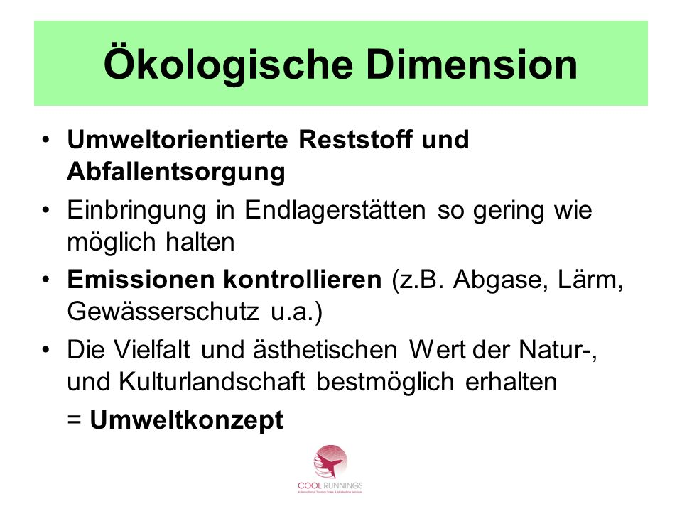 Ökologische Dimension